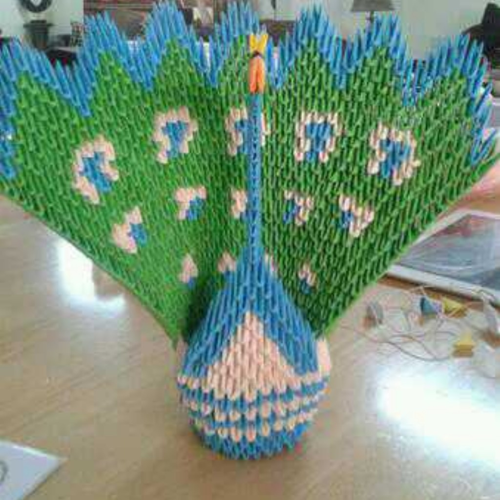 3D Origami Peacock by Taimagroo on deviantART - photo#49