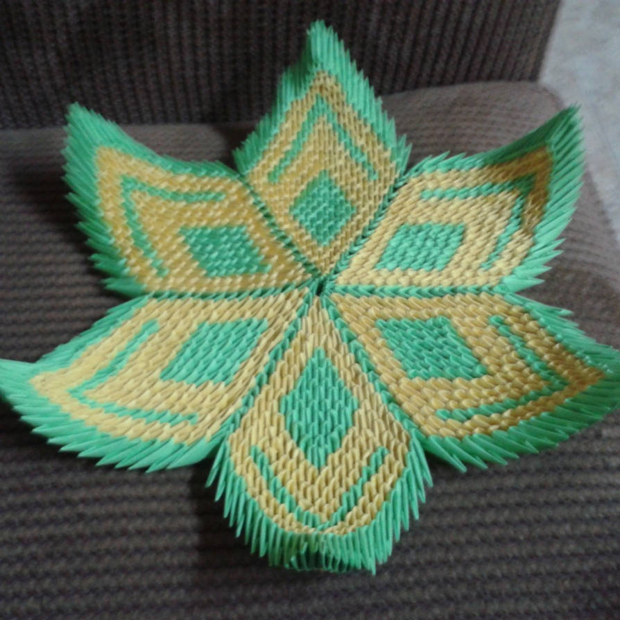 3d Origami Lotus Flower D By Taimagroo On Deviantart