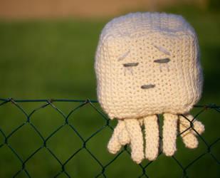 Minecraft Ghast Crochet Figure by Colivahr