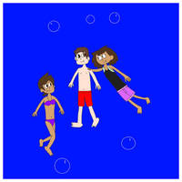 Marco,Luz,and Anne Underwater