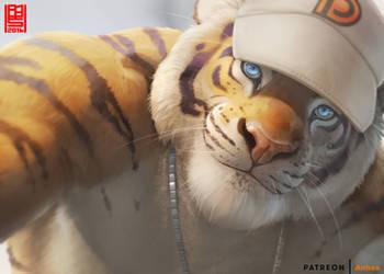 Tiger smile by AnhesArt