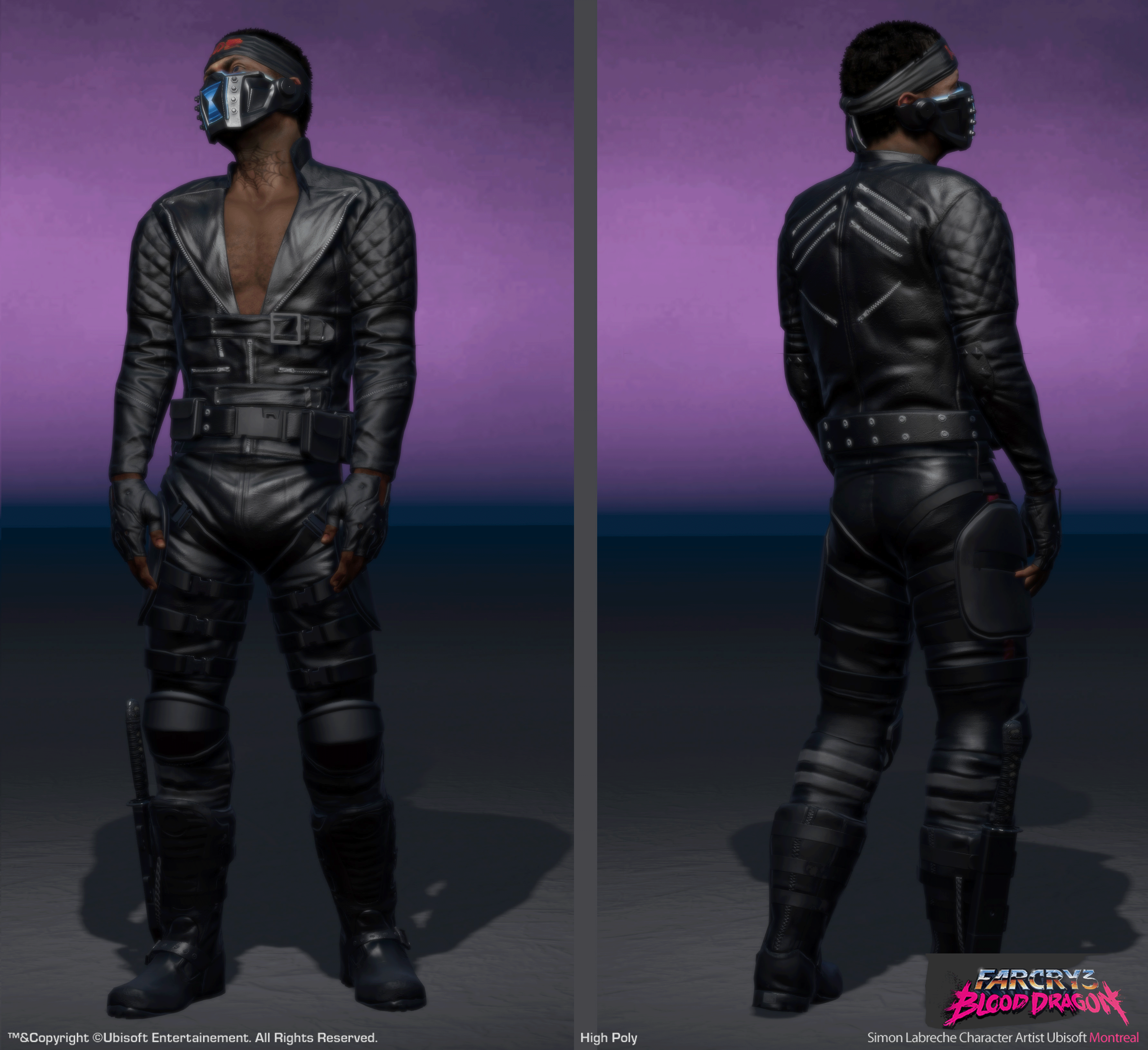 Spider In Game Character For Farcry 3 Blood Dragon By Slabreche On