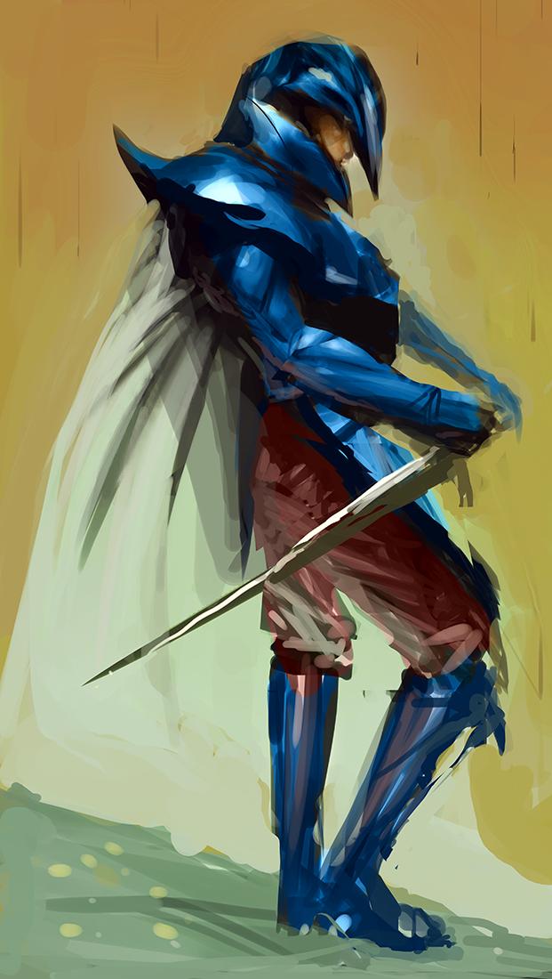 The Blue Hawk by SLabreche
