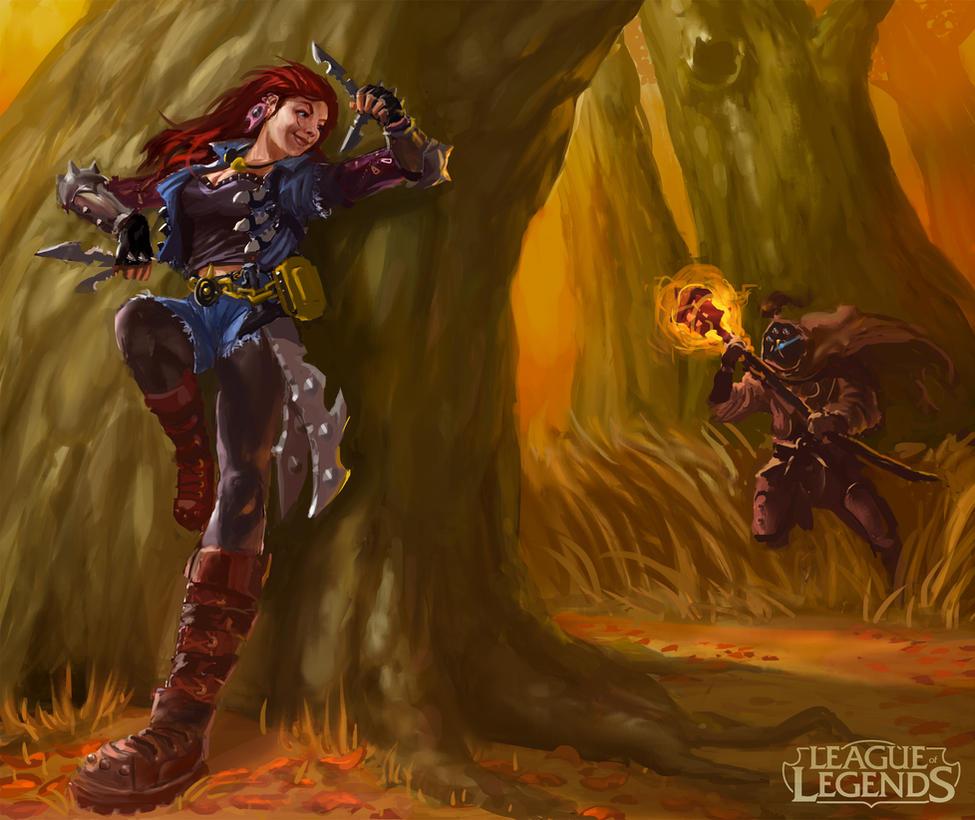 Riot Polycount Contest, Katarina vs Jax FINAL by SLabreche