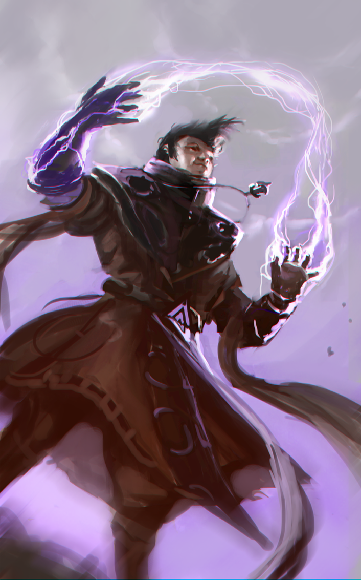 Lighting mage dude by SLabreche