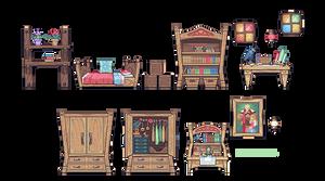 sidescroll furniture practice - Zelda's Room