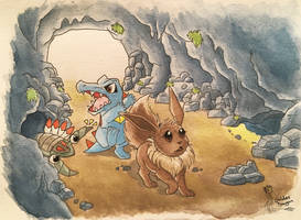 Beach Cave - Pokemon Mystery Dungeon by GoldenDragonJinLong