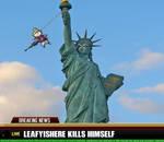 leafyishere kills himself off Lady Liberty