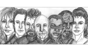 Star Trek TNG Crew by jadzii