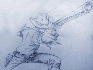 Tex Willer - Sketch by Itamar Nunes02