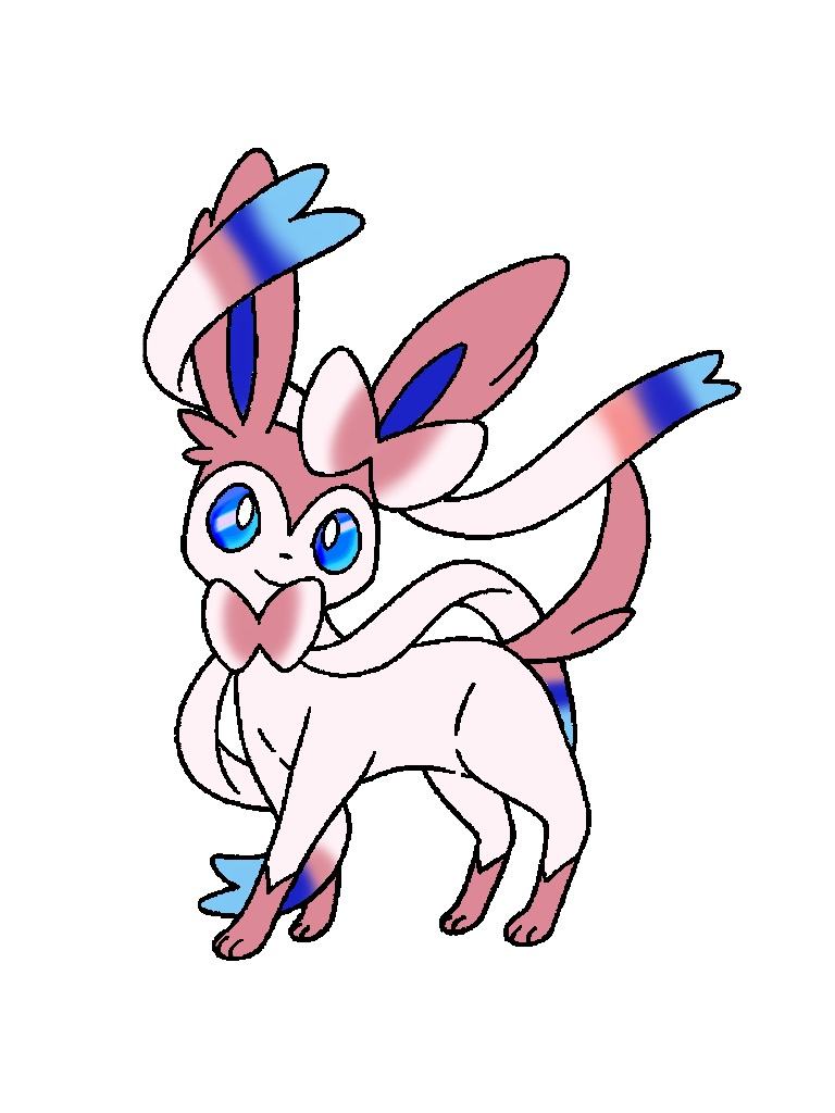 Sylveon Coloring By Cartoonlovinggal On Deviantart