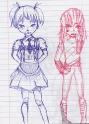 Class doodles (1) by cartoonlovinggal