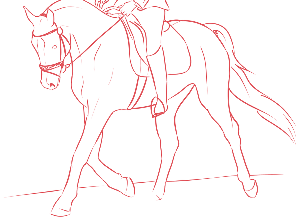 Line Drawing Horse : Dressage horse line drawing by atenaz on deviantart