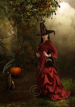 Witch in red