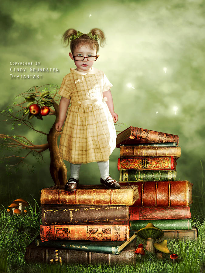 The little librarian by CindysArt