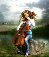 Love song in evening breeze by CindysArt