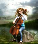 Love song in evening breeze