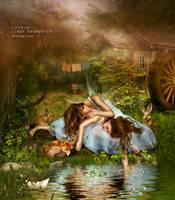 Angel land by CindysArt
