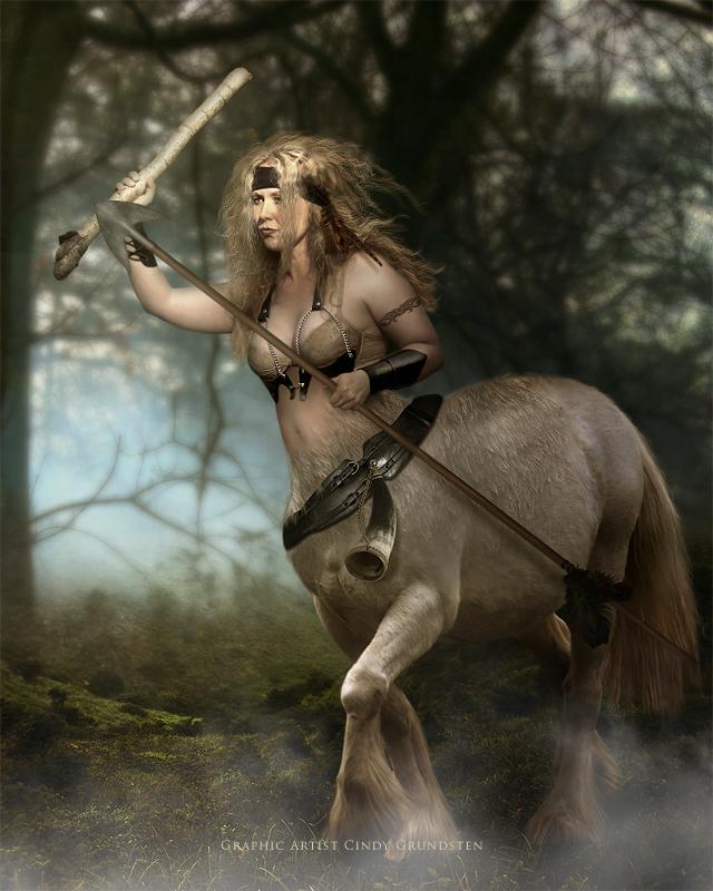 Ylva as a kentaur by CindysArt