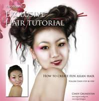 Painted Hair TutorialExclusive by CindysArt