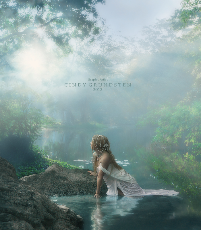 In the small lake by CindysArt