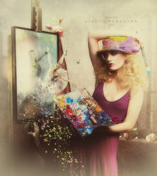 The magical painter by CindysArt