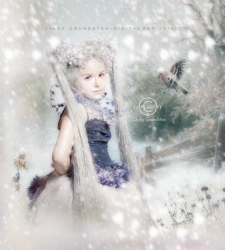 Winter girl by CindysArt