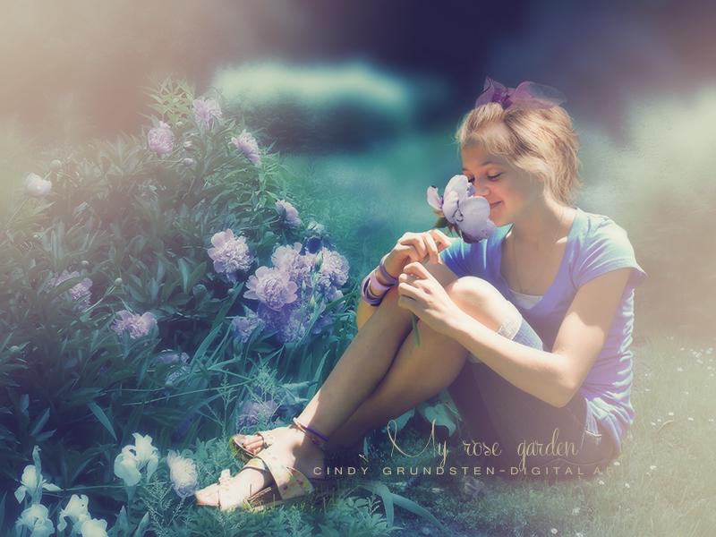 My rose garden by CindysArt