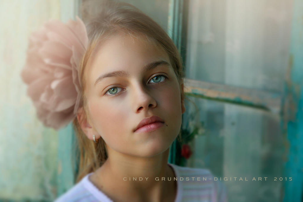 Beautiful little girl by CindysArt
