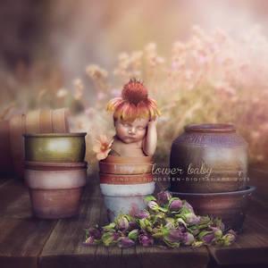 Flower baby by CindysArt