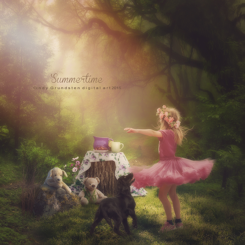 Dances in the summer by CindysArt