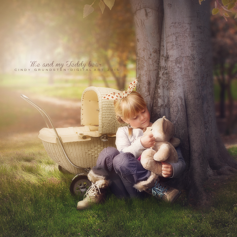 Me and my teddybear by CindysArt