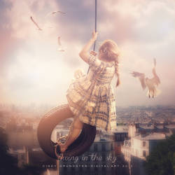 Swing in the sky by CindysArt