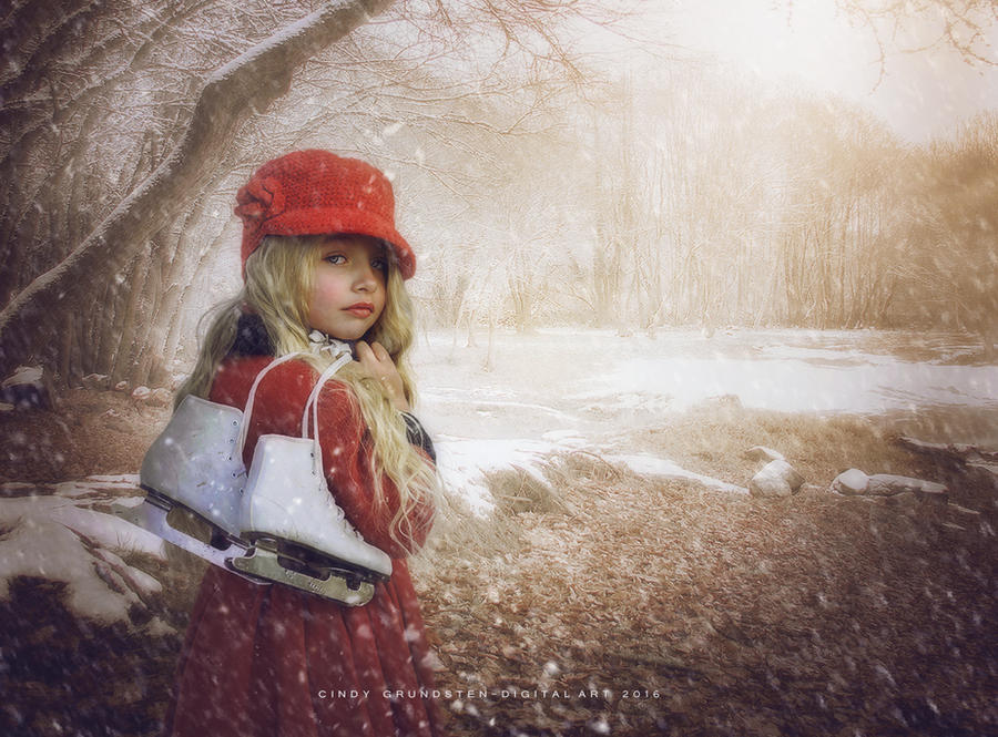 Winter girl by CindysArt