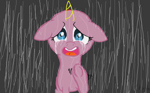 mlp crying in the Rain base by TheLooneyCharboa