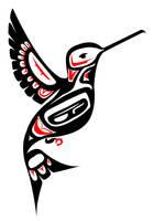 Native Art practice - Hummingbird by Girl-Money23