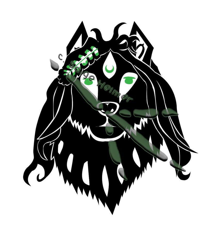Native Eagle Art Native art - zodiac wolf