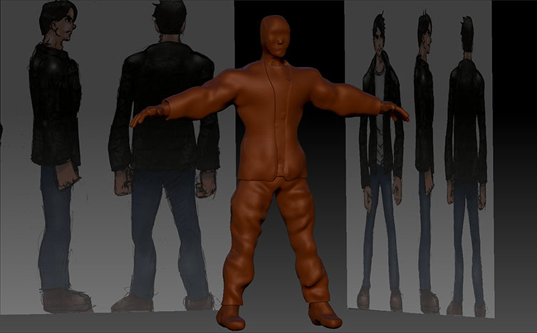 WIP  Character model by Zr0wing