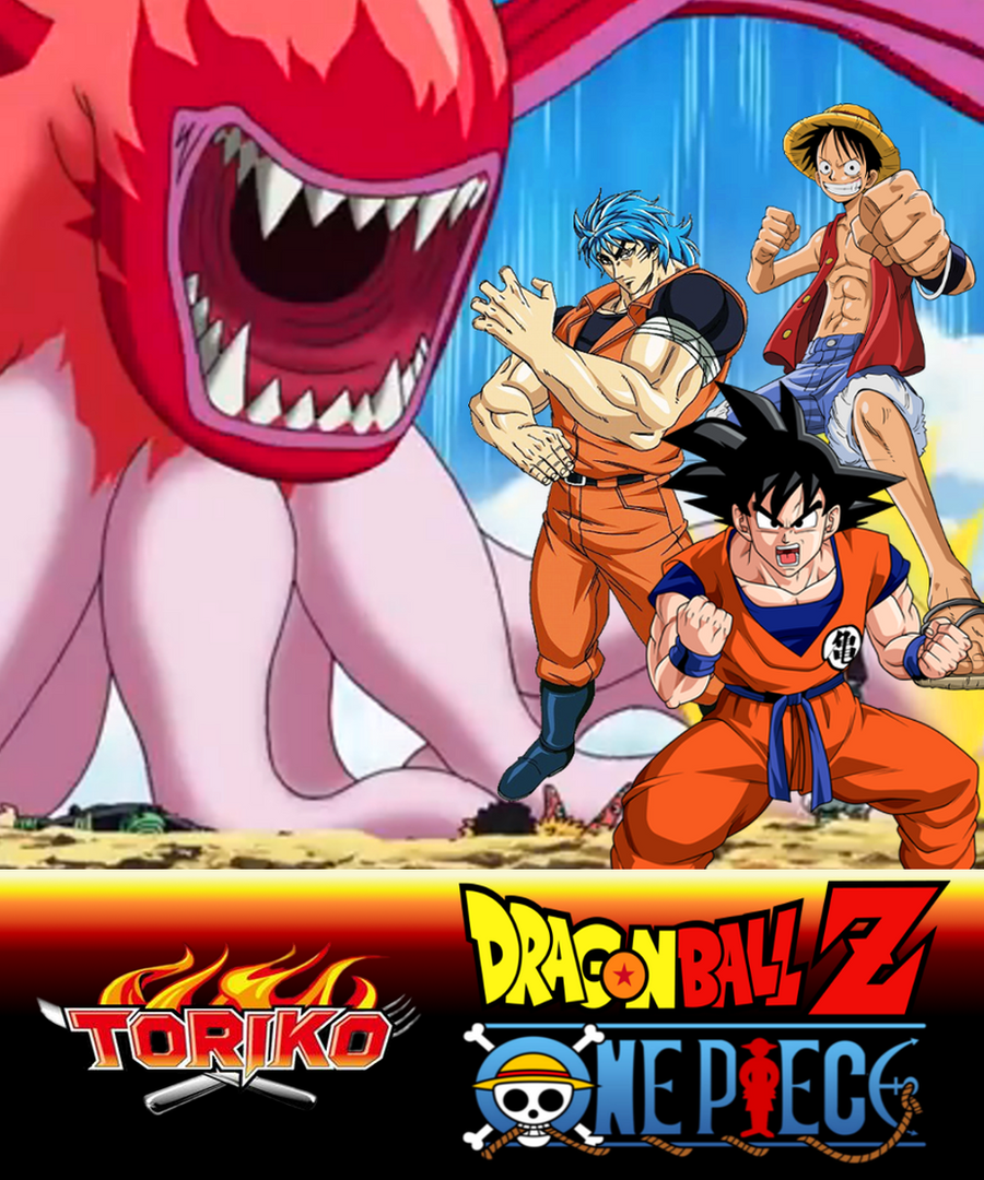 Wallpaper Toriko X DBZ X One Piece By MajinArtBook On