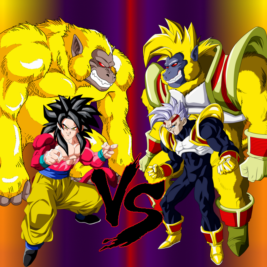Wallpaper dbgt fight goku 4 vs babyvegeta 2 by - Dragon ball gt goku wallpaper ...