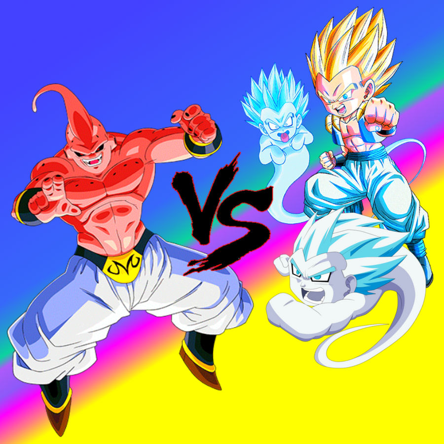 Wallpaper Dbz Fight Gotenks Vs Majin Buu By Majinartbook On