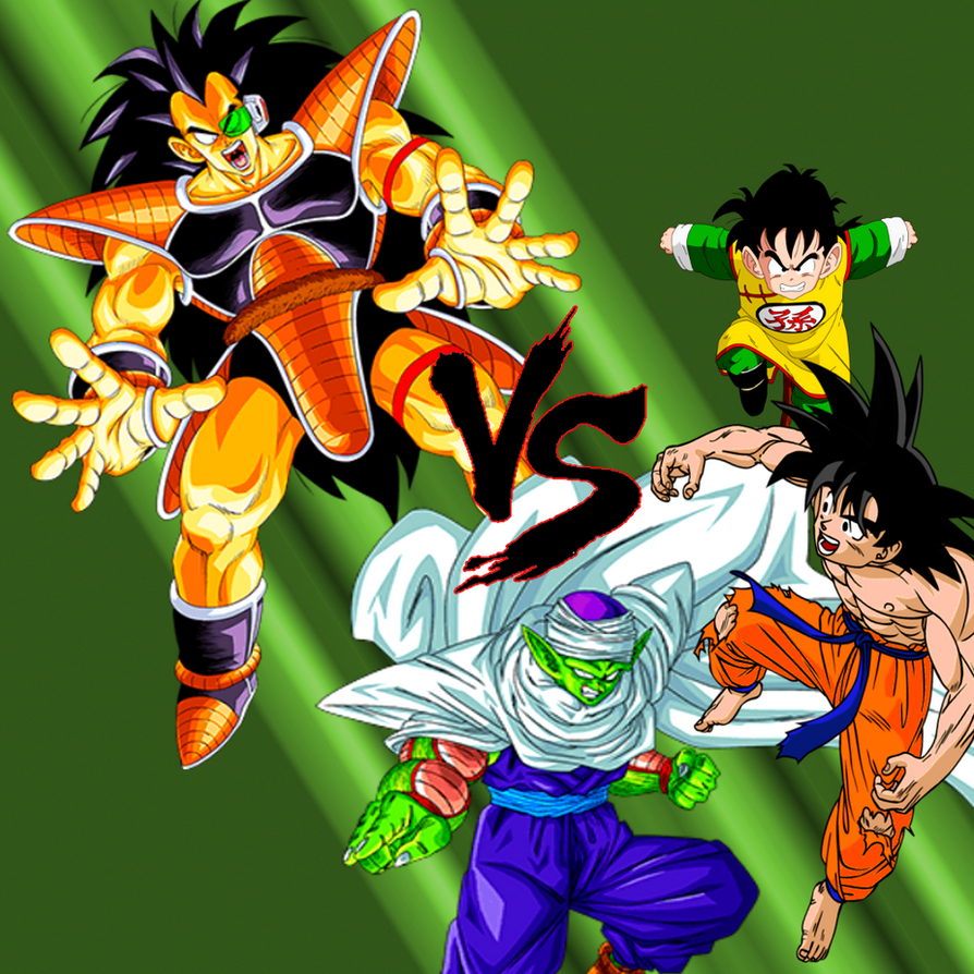 Wallpaper DBZ Fight Goku Piccolo Vs Radditz By MajinArtBook