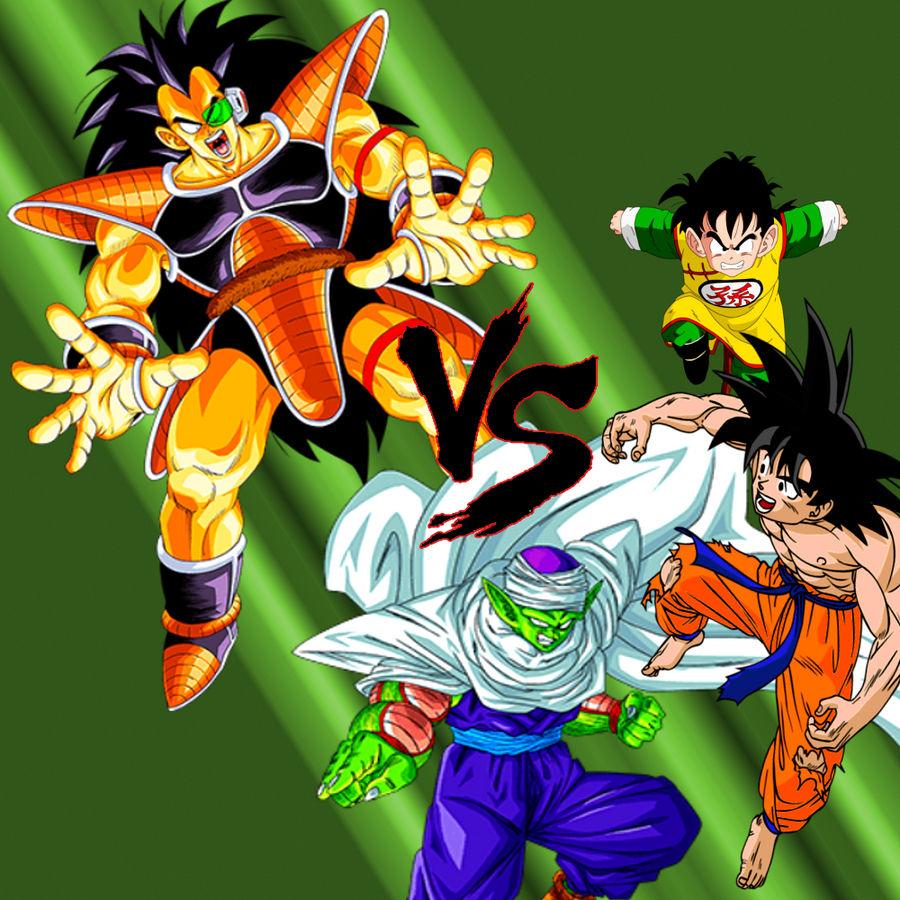 Wallpaper Dbz Fight Goku Piccolo Vs Radditz By Majinartbook On