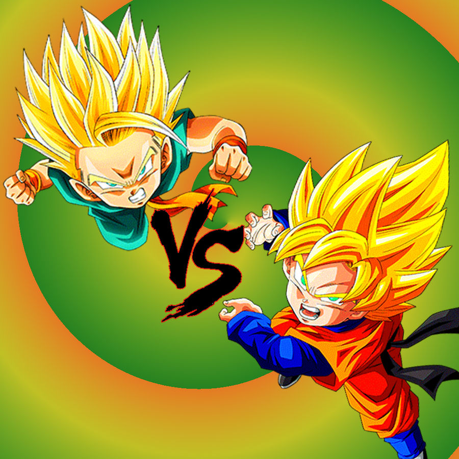Wallpaper Dbz Fight Goten Vs Trunks By Majinartbook On Deviantart