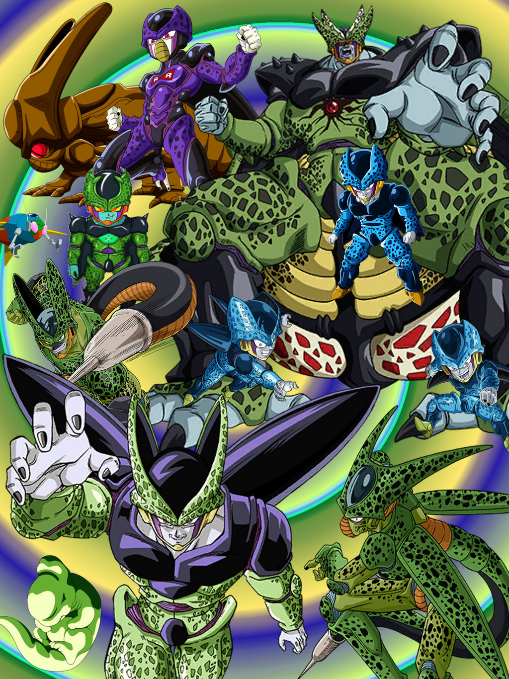 Wallpaper Dbz Android Cell By Majinartbook On Deviantart