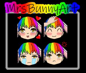 MrsBunnyArt -Twitch Emote Commission