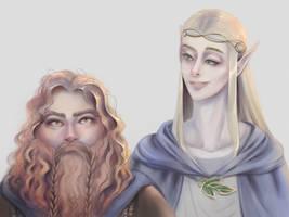 Legolas x Gimli Fan Art (LotR)