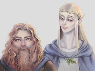 Legolas x Gimli Fan Art (LotR) by Mewlish