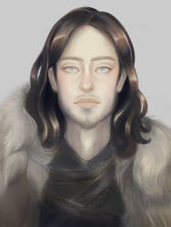 Jon Snow Game of Thrones Fan Art by Mewlish