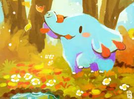 Pokecember Day 1: Ground- Phanpy by Teatime-Rabbit
